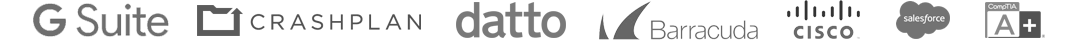 GSuite Crashplan datto Barracuda Cisco SalesForce A+